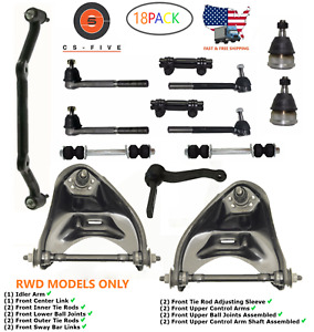 18pc Front End Steering Rebuild Package Kit For Chevy Blazer S10 Gmc Jimmy 2wd
