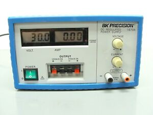 Bk Precision 1670a Triple Output Dc Power Supply 0 30vdc 0 3 Amp Tested