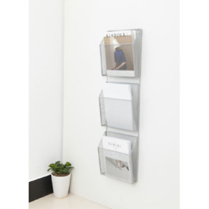 Hgmart Universal Mesh Three pack Wall Files With Hanger Letter Silver