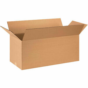 28 X 12 X 12 Long Cardboard Corrugated Boxes 65 Lbs Capacity Ect 32 Lot Of