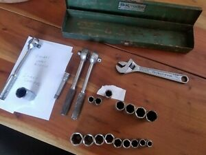 Sk 3 8 Drive Socket Set Ratchet Extensions And Metal Box S K