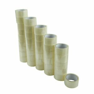 72 Rolls Carton Sealing Clear Packing Tape Box Shipping 2 Mil 2 X 55 Yards