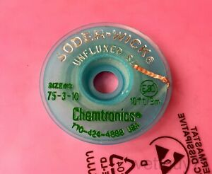 Chemtronics Soder wick 3 As Unfluxed Desoldering Braid Wick 2 0mm 0 080 10