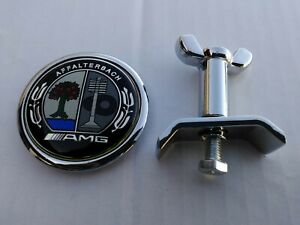 45mm Amg Affalterbach Color Metal Flat Hood Badge Emblem Kit Fit Mercedes 1 78