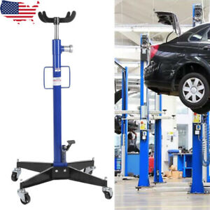 Adjustable Height Hydraulic Transmission Jack 2 Stage Auto Shop Car Lift Sd