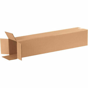 6 X 6 X 30 Tall Cardboard Corrugated Boxes 65 Lbs Capacity 200 ect 32 Lot