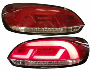Red Clear Finish Led Tail Rear Lightbar Lights For Vw Scirocco 08 14