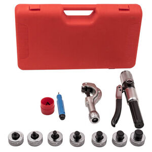 Hvac Hydraulic Tube Expander Swaging Expanding 7 Lever Tool Kit 5 8 7 8 3 4