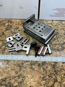 Super Precision 3 1 2x6 Precision Grinding 5 Sine Plate Hold Downs E244