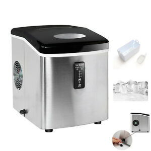 Smad Undercounter Ice Maker 33 Lbs day Stainless Steel Ice Cube Machine Kitchen