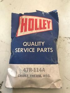 Nos Holley 1 Carburetor Choke Thermo Housing Cover Coil 47r 114a