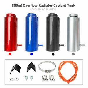 800ml Universal Radiator Coolant Aluminum Tank Overflow Reservoir Kit New