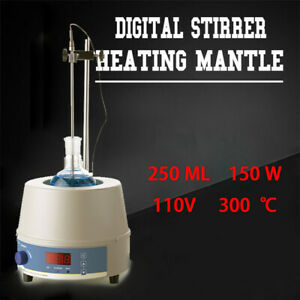250ml 110v Electric Magnetic Stirring Heating Mantle Temperature Control