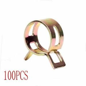 Id 0 43 Inch 100 Pcs Spring Clips Fuel Silicone Vacuum Hose Clamps Kit 11mm