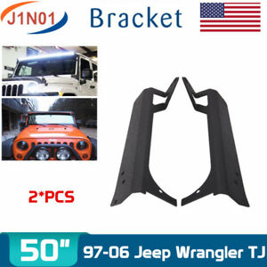 For Jeep 1997 2006 Wrangler Tj Roof Upper Mounting Brackets Fits 50 in Led Light