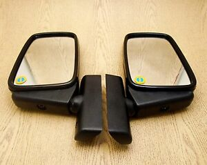 Peugeot 504 404 403 304 203 Ssl Sa 1955 83 Black Door Mirror Pair Custom Retro