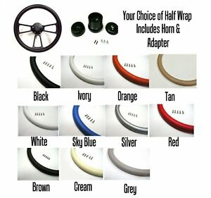 Hot Rod Steering Wheel Black Billet Your Choice Of Color Full Kit Included