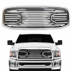 For 06 09 Dodge Ram 2500 Front Hood Chrome Big Horn Grille Replacement Shell
