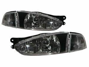 Lancer 1996 1998 Coupe 2d Clear Headlight Black For Mitsubishi Lhd