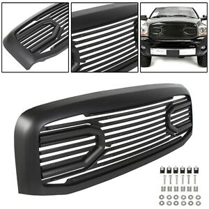 For 06 09 Dodge Ram 1500 2500 3500 Front Hood Black Big Horn Grille shell