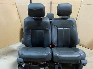 2015 Ford F250 F350 Superduty Platinum Front And Rear Leather Seats Black