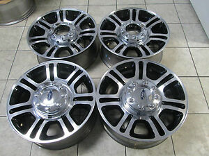 20 Ford F250 F350 Factory Wheels Rims Platinum Black Set 4