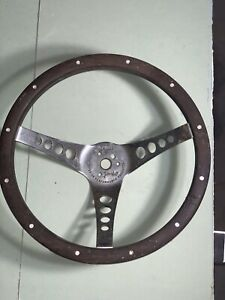 The 500 Superior Performance Products 13 5 Wood Chrome Steering Wheel