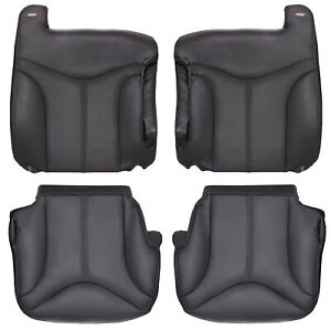 2000 2002 Gmc Sierra Truck Full Front Row Factory Match Leather Kit Gray