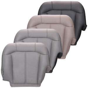 2000 2002 Chevy Silverado Driver Side Bottom Replacement Seat Cover Leather