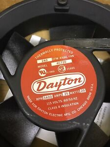 Dayton 4c720 6 3 4in 240cfm 115v ac Axial Fan