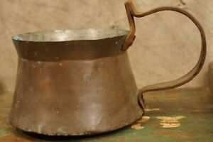 Antique Primitive Copper Coffee Water Pot Kettle