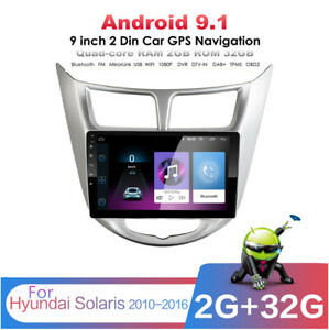 9 Android 9 1 Mp5 Stereo Radio Gps Navigation For Hyundai Solaris Accent 10 16