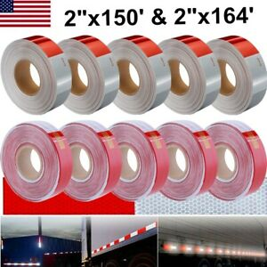 Lot 2 x 150 164 Dot c2 Premium Reflective Red White Conspicuity Tape Trailer