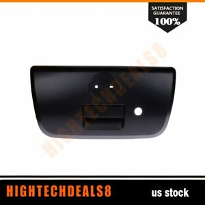 Tailgate Rear Handle W Bezel Keyhole Textured Black For 01 04 Nissan Frontier