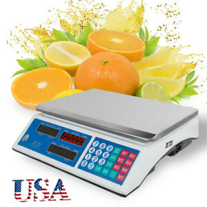 Commercial Grade Digital Food Meat Deli Scale Pricing Computer Weight For Retail