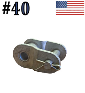 40 Dacromet Plated Roller Chain Offset Links quantity Of 10