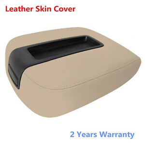 Leather Armrest Console Lid Cover For 07 13 Chevy Silverado Avalanche Gmc Beige
