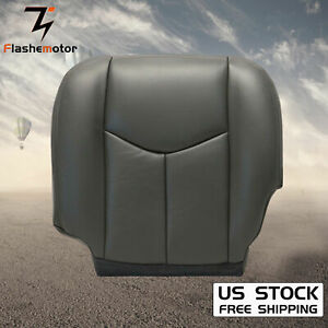 For 2003 04 05 2006 Chevy Silverado 1500 2500 Driver Bottom Seat Cover Dark gray