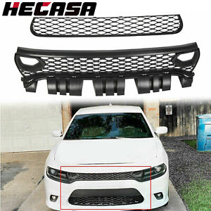 For 15 19 Dodge Charger Srt scat Pack Daytona Hellcat Upper Lower Grille Bezels
