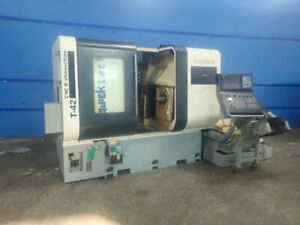 Quicktech Tt42 twin 8 Axis Cnc Turning Lathe Sub Live Tool B C Y Axis Nakamura