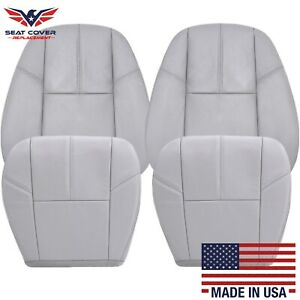 2007 2014 Chevy Silverado Avalanche Suburban Tahoe Leather Seat Covers In Gray