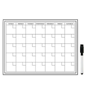 Monthly Dry Erase Table Calendar 24 X 18 Inches With Magnetic Marker black