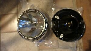 Jeep Cj 1972 86 Replacement Headlight Bucket And Bezel Ford F2us 13n053 Aa