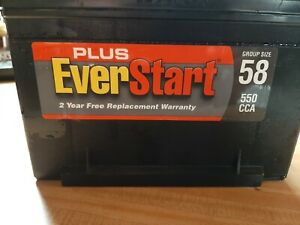 Car Battery Ever Start 550 Cca Top Post New Never Used