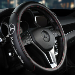 15 Car Steering Wheel Cover Genuine Leather For Mercedes benz