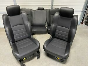 2003 2018 Dodge 1500 2500 3500 Front Rear Seats Black Leather Crew Cab