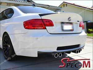 V type Carbon Fiber Diffuser Performance Tail Spoiler Lip E92 M3 Coupe Only