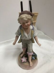 Antique French Bisque Figurine Boy Statue