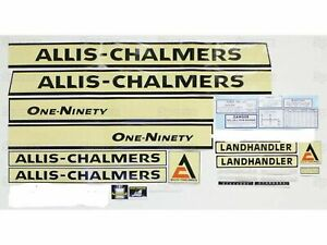 Allis Chalmers Ac 190xt Decal Set Creme Background Lettering