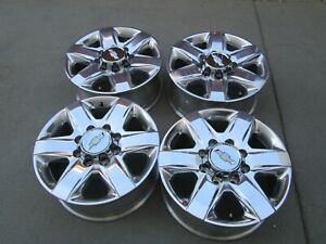20 Chevy Gmc 2500 Hd 3500 Hd Oem Factory Polished Wheels Rims 2020 Polished